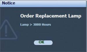 BenQ MP730 first lamp warning, BenQ 5J.08G01.001_projector_lamp