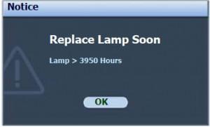 BenQ MP730 secod lamp warning, BenQ 5J.08G01.001_projector_lamp