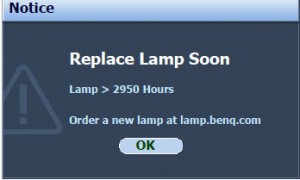 BenQ MP777 second lamp warning, BenQ 5J.J0405.001