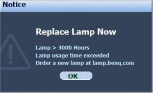 BenQ MP777 final lamp warning, BenQ 5J.J0405.001