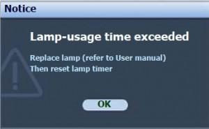 BenQ MP730 final lamp warning, BenQ 5J.08G01.001_projector_lamp