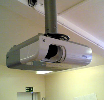 A Ceiling Mounted Projector Offers Theater Style Viewing If Installed Properly