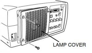 Proxima DP-9290 lamp cover, Proxima LAMP-032 (POA-LMP38 service parts no 610 293 5868)