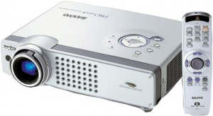 Sanyo PLC-XU58 projector, Sanyo POA-LMP55 service part no 610 309 2706