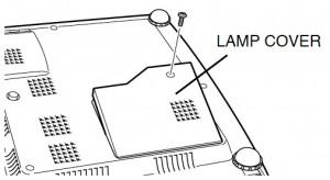 Sanyo PLC-SW20 lamp cover, Sanyo POA-LMP36 (service part no 610 293 8210)