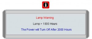 BenQ CP120C first lamp warning, BenQ 5J.00S01.001