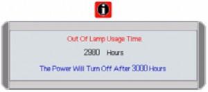 BenQ PB2250 lamp warning at 2980, BenQ 59.J9301.CG1