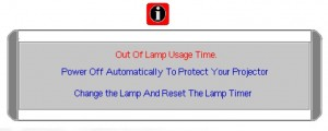 BenQ CP120C final lamp Warning, BenQ 5J.00S01.001