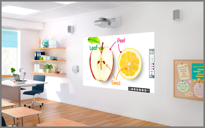 whiteboard-projectors-classroom-mounted